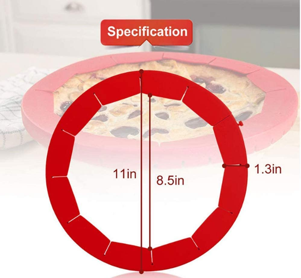 4 Colors Fit 8 Inch to 11 Inch Diameter Pies Auch 4 Pack Adjustable Silicone Pie Crust Shield Pie Shield Protector for Baking