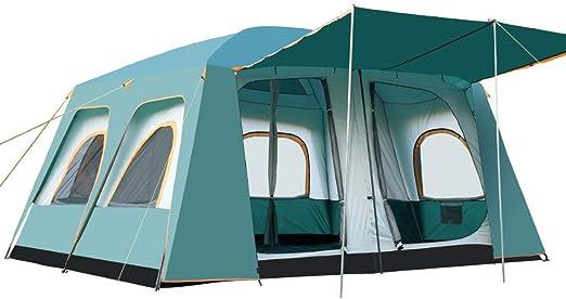 Tienda de campa/ña una Sala a Prueba de Viento Anti-UV Dos Habitaciones Tienda para Varias Personas a Prueba de Lluvia Adecuada para Viajes Familiares