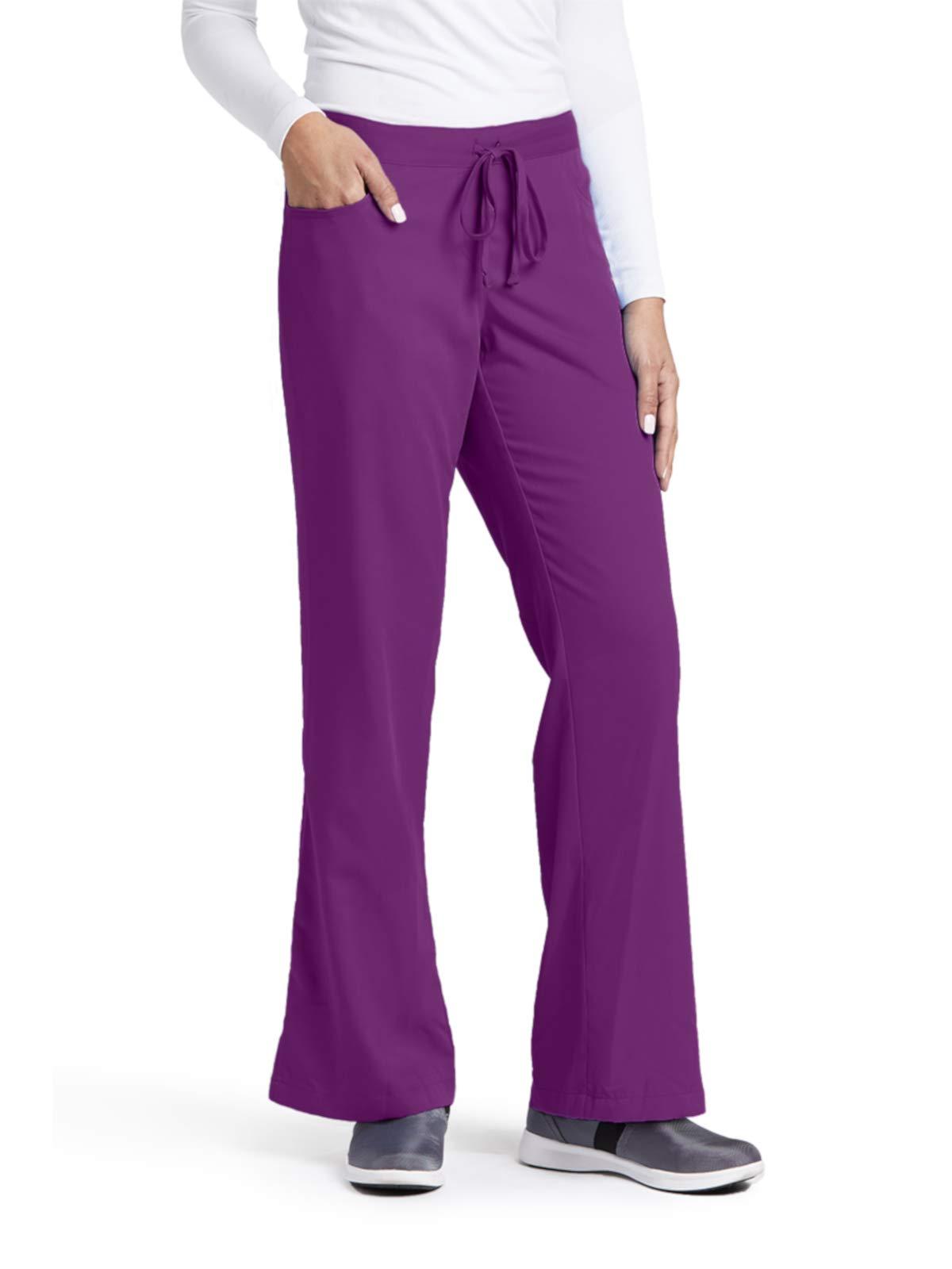Grey's Anatomy 4232 Tie Front Pant Very Berry M Petite
