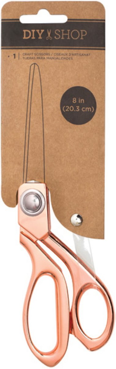 American Crafts 376927 DIY Shop Rose Gold 8'' Rose Gold Scissors