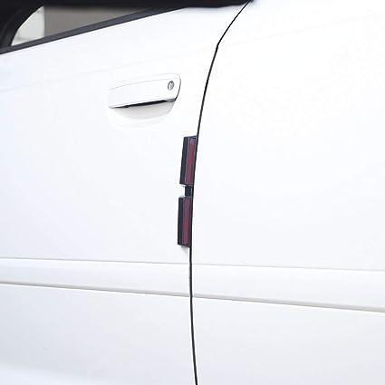 Smart Planet® Juego de 4 protectores de puerta de alta calidad para la puerta del coche – Protección antigolpes para colocar – con reflectores para 4 puertas del coche: Amazon.es: Coche y moto