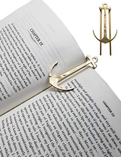 - ClasicHomie Wisdom Page Anchor Book Page Holder,Clips,Bookmark,Holds Book Open (Gold)