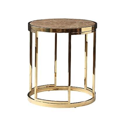 Amazon.com: Round Side Table/Mini End Table, Light Metal ...