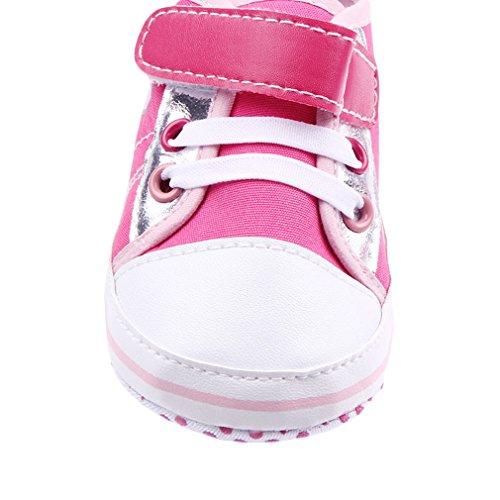 La Vogue Zapatillas Bebé Zapatos Primeros Mariposas Fucsia Talla13/12.5cm