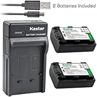 Kastar Battery (X2) & Slim USB Charger for Sony NP-FH50 NP-FH40 NP-FH30 NP-FP50 NP-FP51 and Sony A230 A290 A390 DSC-HX1 HX100 HX100V HX200 HX200V HDR-TG1E TG3 TG5 TG7 Camera