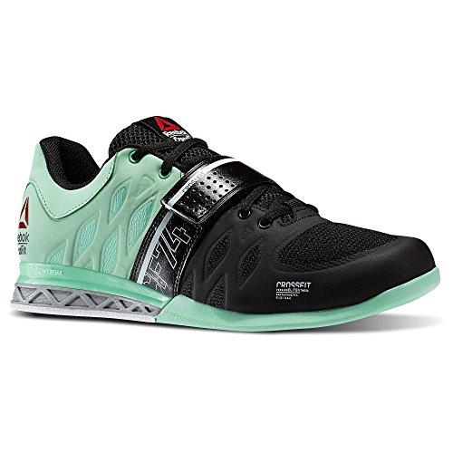 Mens Reebok Crossfit Lifter 2.0 Training Sneakers in Black / Mint Glow/ Porcelain/ Met Silver Size 13 1pgCPvyBkV
