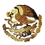 Cheap Handmade Art Intarsia Wooden Wall Plaque – Mexican Eagle(084)