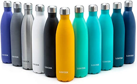 Amazon.com: UMAY Lontek Botella de agua de acero inoxidable ...