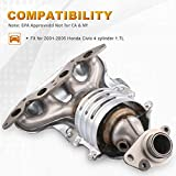 MOSTPLUS Exhaust Manifold w/Catalytic Converter For 2001-2005 Honda Civic 1.7L Replaces 18160-PLM-A50,18160-PLM-A00