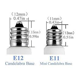 Mini Candelabra Base E11 LED, Warm White 3000k, 75