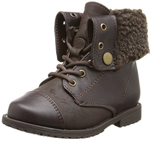Brown Combat Boots For Girls (Rachel Shoes Lil Aspen Boot (Toddler/Little Kid), Brown Smooth, 9 M US Toddler)