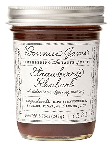 Bonnie's Jams Strawberry Rhubarb, 8.75 oz. made in New England