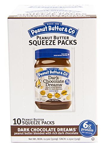 Peanut Butter & Co. Peanut Butter, Dark Chocolate Dreams Squeeze Packs, 1.15 Ounce (Pack of 20) (Peanut Butter And Company compare prices)