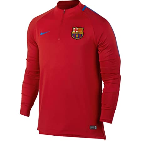 2017-2018 Barcelona Nike Drill Training Top (Red): Amazon.es ...