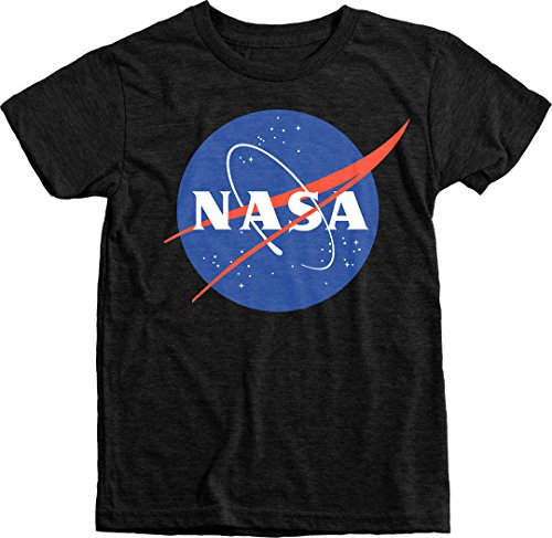 Trunk Candy Kids NASA Space Program Meatball Logo Premium Tri-Blend T-Shirt (Vintage Black, S(6/7)) ()