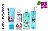 Bath & Body Works FRESH SEA SALT MANGO Deluxe Gift Set Lotion ~ Cream ~ Fragrance Mist ~ Shower Gel Lot of 4