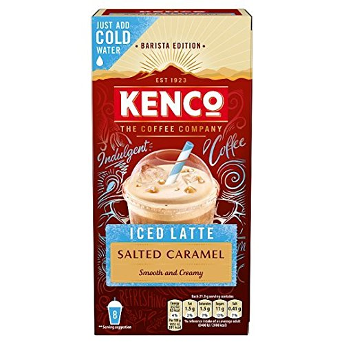 Kenco Iced Latte Salted Caramel Flavour Barista Edition 8 Pack