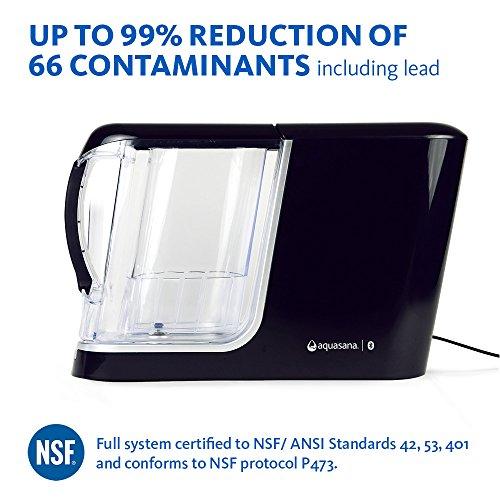 Aquasana Clean-cut Water Machine, Powered Water Filter Pitcher, Filters 320 gallons, Black