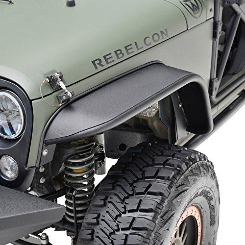 E-Autogrilles 51-0343 07-16 Jeep Wrangler JK Steel Style Rocker Guard Textured Front Fender Flares