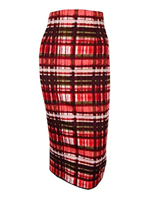 XOXO Juniors' High-Waisted Plaid Midi Skirt