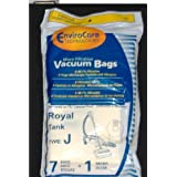 Royal Envirocare-Royal Tank Type J Vacuum Bags Microfiltration With Closure - 7 Pack + 1 Filter