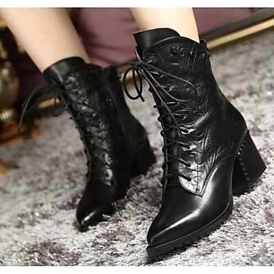 EU35 Black UK3 Winter CN34 Women'S Boots US5 Brown Casual Shoes RTRY Boots Fashion Cowhide Fall For qpnO6Pw