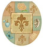 Toilet Tattoos TT-1065-R French Lily Collage, Round by Toilet Tattoos