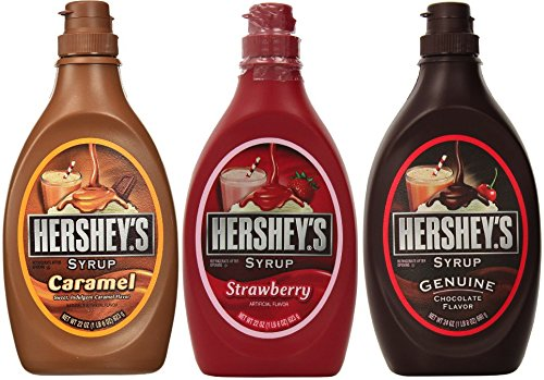 (Hershey's Syrup Variety Pack Bundle of 3 Flavors- Chocolate, Caramel and)