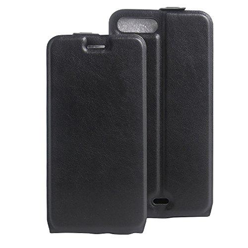 Para iPhone 7 Plus / iPhone 8 Plus Caso compacto de piel PU, arriba-abajo piel abierta PU Funda de piel con ranura para tarjeta y función de protección completa con cierre magnético Caja a prueba de g Negro