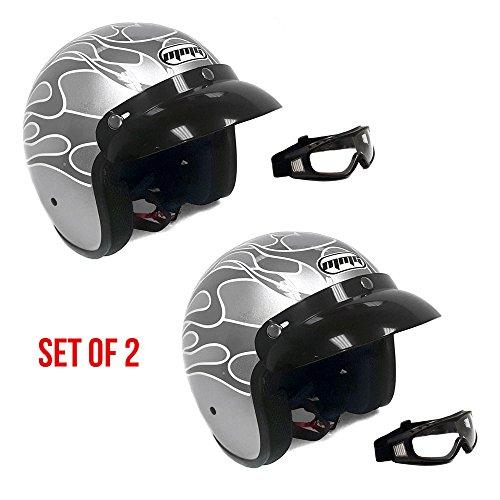 Old School 3 4 Motorcycle Helmets - 8