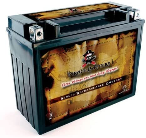 Pirate Battery Y50-N18L-A3 High Performance Sealed AGM Motorcycle Battery