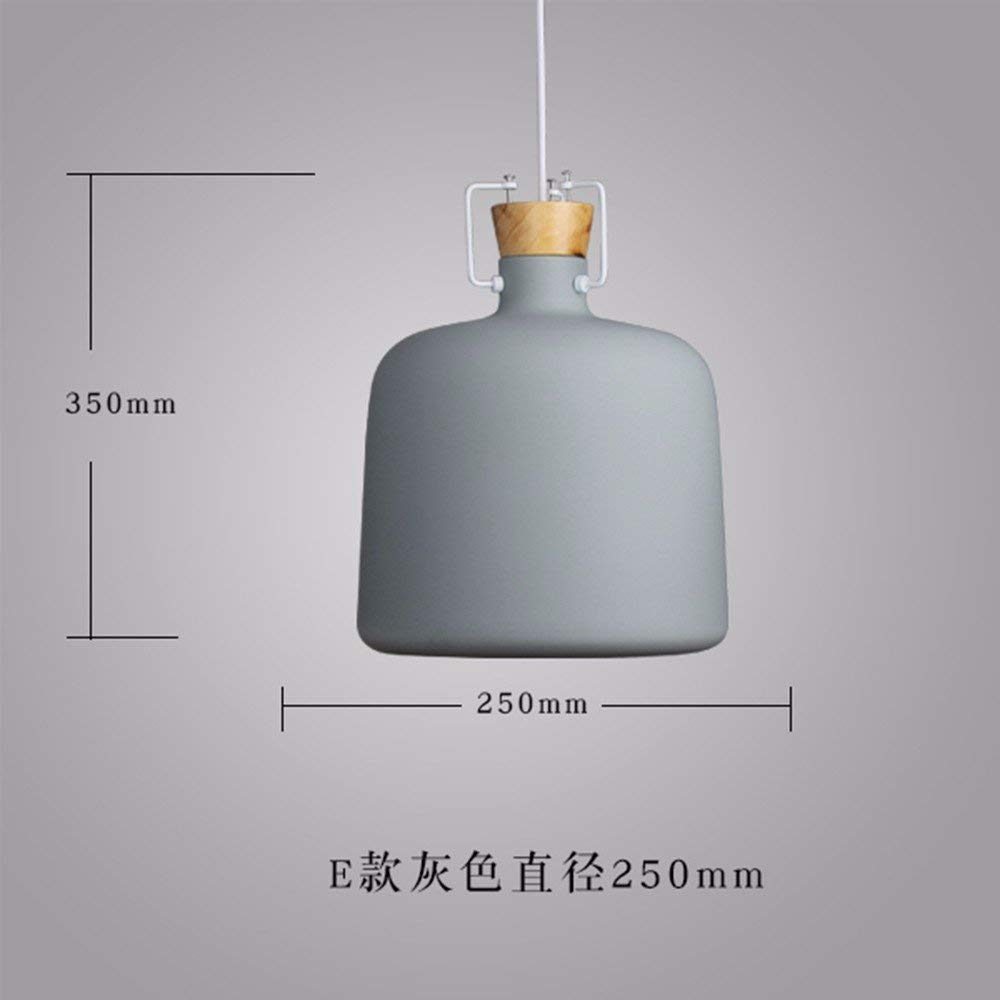 GUO Gzz Deng Home Outdoor Lighting Pendant Light Shade Industrial Hanging Ceiling Lamp Chandelier Wood Japanese 250X350Mm Gray Living Room Restaurant Bedroom Lighting