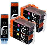 10x FCI Compatible Inks For PGI-570 XL / CLI-571 XL Canon Pixma Ink Cartridges MG5750, MG5751, MG5752, MG5753, MG6850, MG6851, MG6852, MG6853 printer inks (All Our Product Reviews Are Verified Purchases)