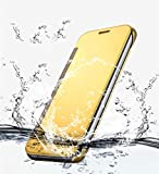 Original Trifty Flip Cover For Samsung Galaxy C7 Pro - Gold