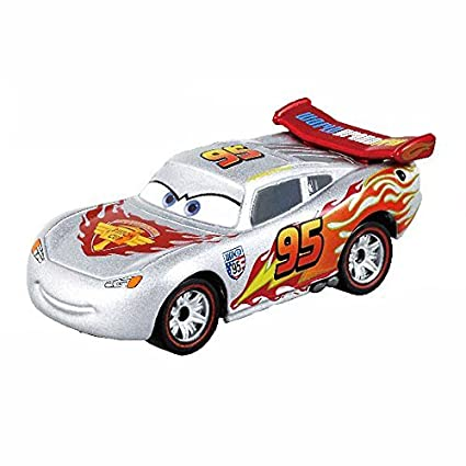 Amazon Com Tomica Toys R Us Limited Cars Lightning Mcqueen Silver
