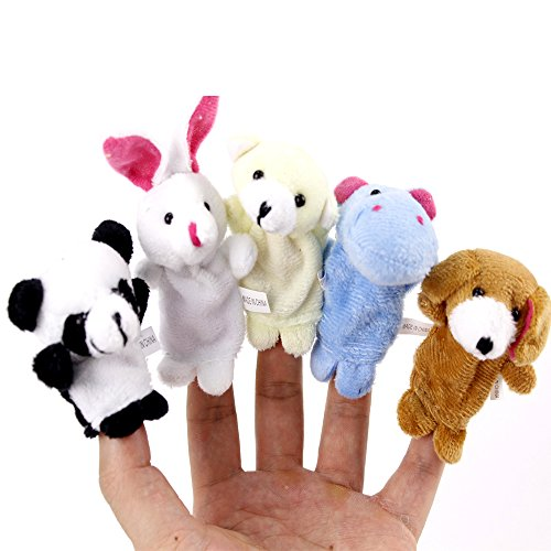 [KateDy 2 Packs/20pcs Baby Fingers Plays Children's Fingers Simulation Games Learn Animal Puppet Toy Dolls Velvet Children's Learn Play Story Toy] (Wizard Of Oz Tattoo Ideas)