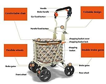 Amazon.com: luckyyan Ancianos Walker Foldable Portable ...