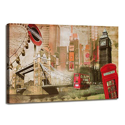 Visario 5176 - Fotografia sobre Lienzo (120 cm x 80 cm), diseno de Londres