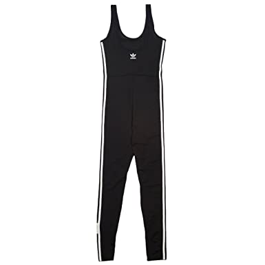 adidas Womens Adibreak Jumpsuit (L, Black)