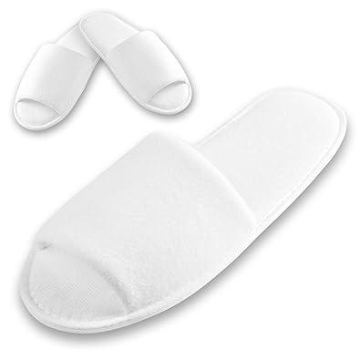 100 x Hausschuhe Hotel Schuhe Einweg Sauna Pantoffeln Slipper Wellness Weiß Set