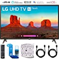 LG UK6300 Smart 4K UHD TV (2018) with Surge Protector + Cleaning Kit