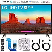 LG UK6300 Smart 4K UHD TV (2018) with Surge Protector + Cleaning Kit (65-Inch)