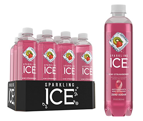 Sparkling Ice Kiwi Strawberry Sparkling Water, with Antioxidants and Vitamins, Zero Sugar, 17 Ounce Bottles (Pack of 12)