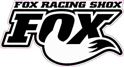 Amazon Com Fox Racing Shox White Tall Decal 5 X 2 75 In The