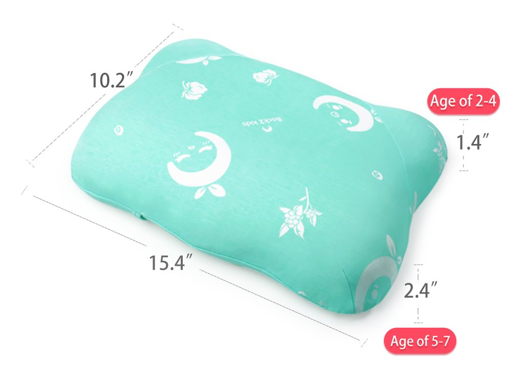 Small Nap Pillow for Kids 15 x 10 Green Toddler Pillow for Sleeping