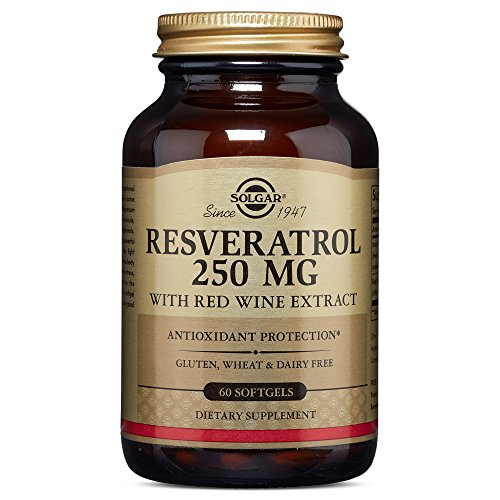 Solgar - Resveratrol with Red Wine Extract, 250 mg, 60 Softgels Red Wine Antioxidant