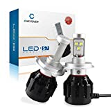 Car Rover Cree LED Headlight Kit 72W H4 9003 HB2 7200LM 6000K White Light Bulbs (2Pcs)