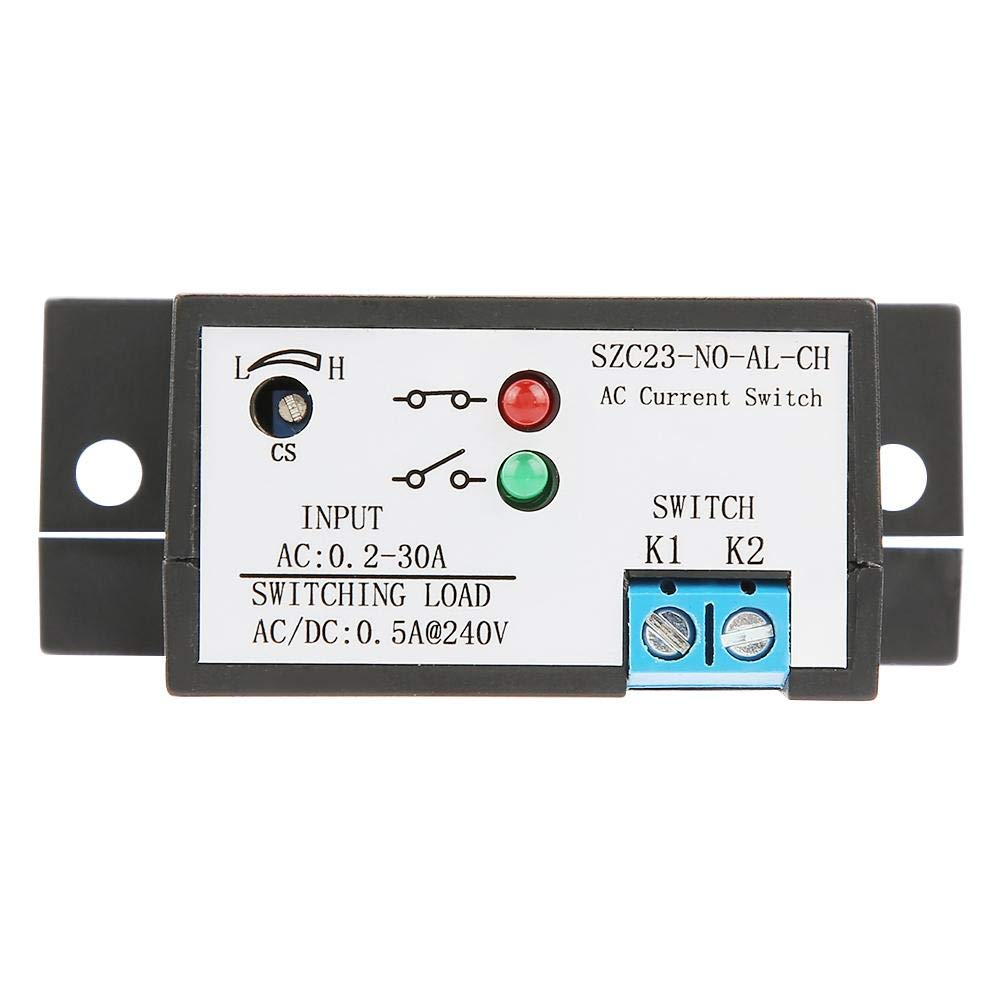 Current Sensing Switch,Normally Open Current Sensing Switch Adjustable AC 0.2A -30A (SZC23-NO-AL-CH Model)