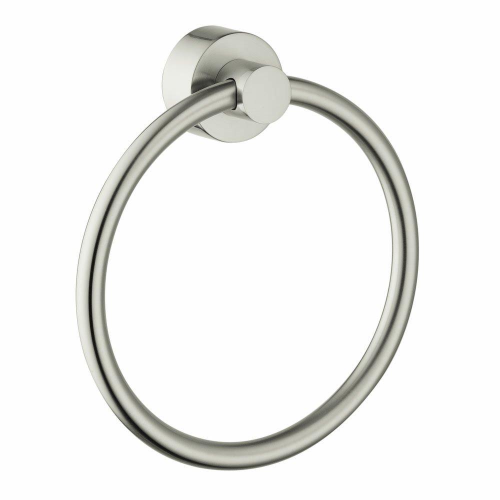 Axor HG41521820 Uno Towel Ring, Brushed Nickel