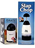 Original Slap Chop Slicer with Bonus Cheese Graty - Stainless Steel Blades - Vegetable Chopper Gadget - Mini Chopper for Salads - Kitchen Accessory